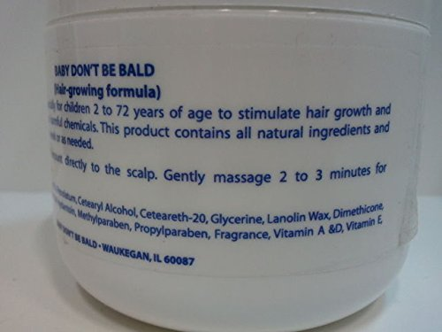 Baby Dont Be Bald Baby Hair & Scalp Nourishment Blue 4 Oz