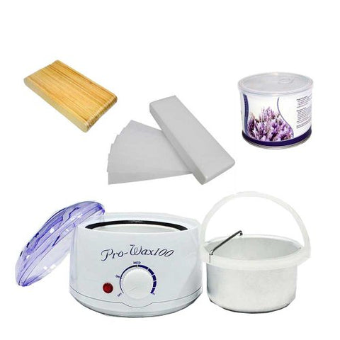 Huini Pro Waxing Kit Hair Removal Kit with Lavender, 14-ounce Package