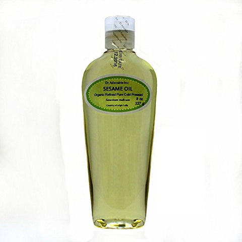 Sesame Seed Oil Refined Organic Pure by Dr.Adorable 8 Oz