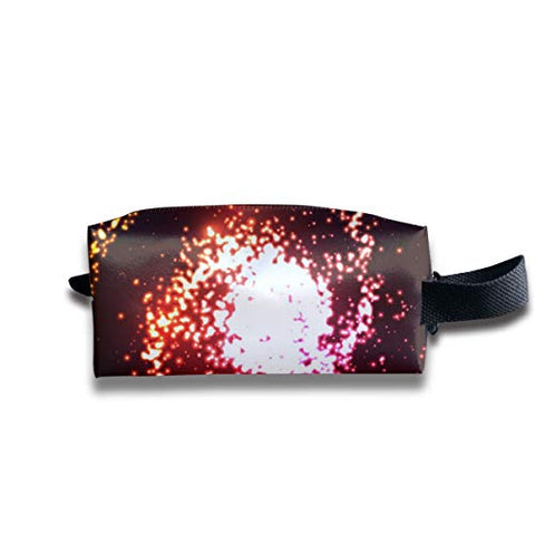 Taslilye Abstraction Space Galaxy Neon Banner Customized Cosmetic Bag Portable Printing Bag for Women's Storage