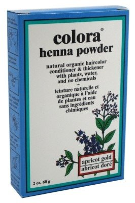 Colora Henna Powder Hair Color Apricot Gold 2oz (6 Pack)