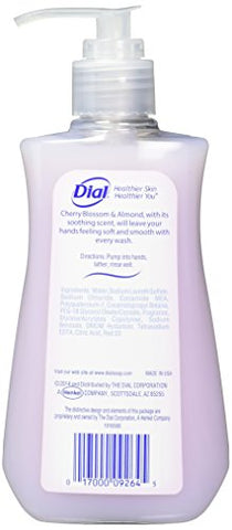Dial Cherry Blossom & Almond Hand Soap with Moisturizer, 7.5 Fl Oz (Pack of 6)