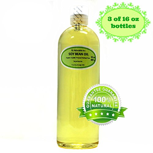 Soybean OIL Pure SOY OIL Cold Pressed Organic 48 Oz / 3 Pints