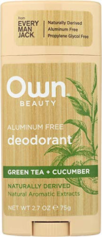 Own, Deodorant Aluminum Free Green Tea & Cucumber, 2.7 Ounce