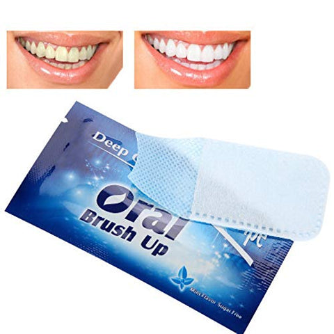 50Pcs White Strips, Whitening Stripes, Teeth Whitening Strips, Dental Clean Teeth Wipe Tooth Cleaning Tool for Oral Deep Cleaning