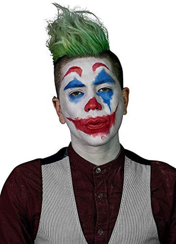Mehron Clown Costume Makeup Kit  8 Piece All in One Halloween Cosmetics with Joker Face Paint - Step-by-Step Instructions