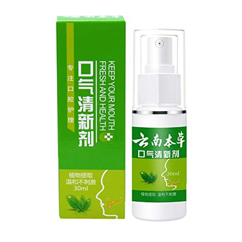 30mL Fresh Breath Spray, Mint Moisturizing Mouth Spray for Dry Mouth and Fresh Breath