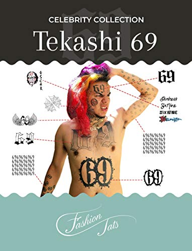 BONUS PACK: Tekashi 6ix9ine Temporary Tattoos | Includes Chest, Body & ARM Tattoos | REALISTIC | Life-Sized | OVER 30+ TATTOOS | Made in USA