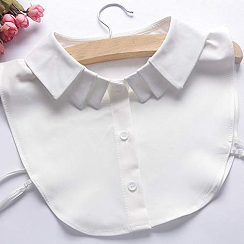 lecimo Lady Cotton Fake Collars,Half-Shirt Collars, Detachable Collar,Faux Fake Lapel Shirt Collar,Necklace Removable Collar