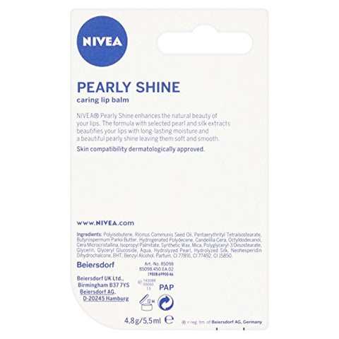 Nivea Lip Care Pearl & Shine 4.8G