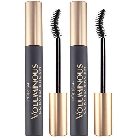 L'Oreal Paris Makeup Voluminous Original Volume Building Curved Brush Mascara, Black, 2 Count