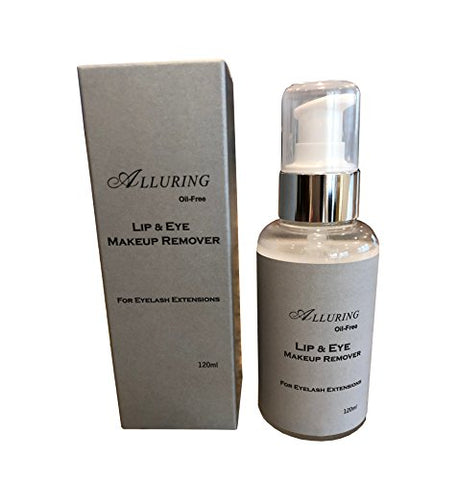 Alluring Makeup remover 120ml for Eyelash Extensions, Oil Free, Gentle QTY 5