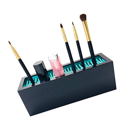 Wenyun Portable Silicone Makeup Brush Holder Cosmetic Organizer, Makeup Brush Display Stand Storage Case