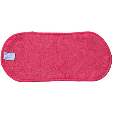 Makeup Remover - Facial Cleansing Cloth - Natural Makeup Remover-Works with Warm Water - Waterproof Mascara Remover - Perfect for Sensitive Skin -Pink
