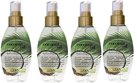 OGX Nourishing Coconut Oil Weightless Hydrating Oil Mist 4 oz (Pack of 4)