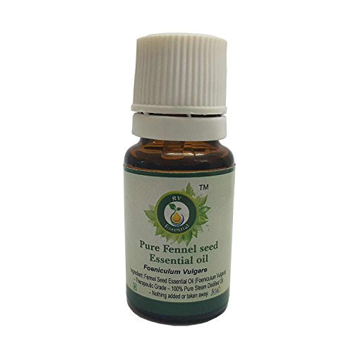 R V Essential Pure Fennel Seed Essential Oil 50ml (1.69oz)- Foeniculum Vulgare (100% Pure and Natural Therapeutic Grade)