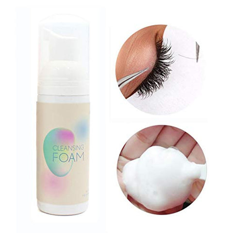 Pretty Comy Eyelash Extension Cleanser Foam Mild Non-Irritating Lash Makeup Cleansing Foam Makeup Remover