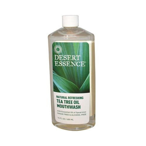 DESERT ESSENCE MOUTHWASH,TEA TREE,REFILL 16 FZ