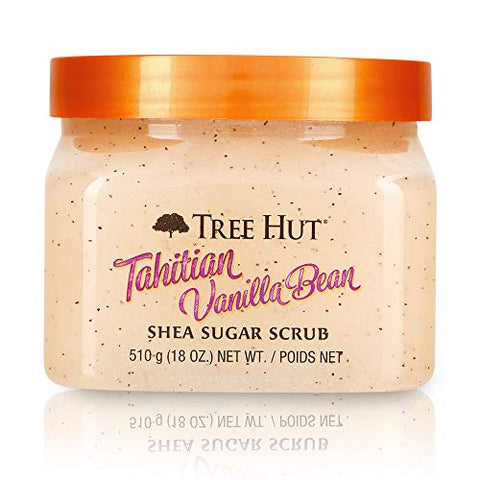 Tree Hut Tahitian Vanilla Bean Shea Sugar Scrub, 18oz, Ultra Hydrating And Exfoliating Scrub For Nou