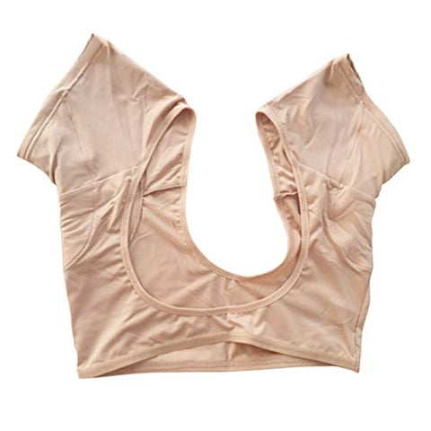 HEALLILY Underarm Armpit Sweat Pads Armpit Guard Shields Absorbing Sweat Deodorant Underwear Vest for Women (Skin Color Size L)