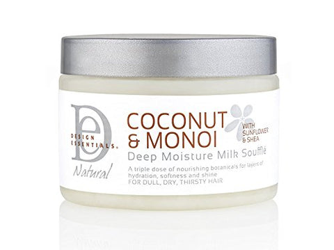 Design Essentials Deep Moisture Milk Souffle For Dull, Dry & Thirsty Hair   Coconut & Monoi Collecti