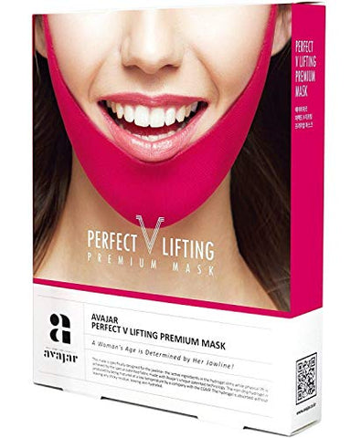 Avajar Perfect V Lifting Premium Anti Celluite Mask For Facial Firming Treatment Lifting Mask 1 Ea