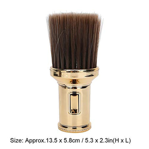 Neck Duster Brush, Beard Shaving Brush for Barber Shop Multifunctional Broken Hair Sweep Brush Professional Barber Fiber Wooden Handle(2#)
