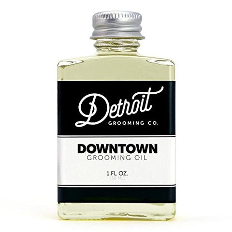 Detroit Grooming Co. Beard Oil - Downtown | Oil for All Beards | Helps Soften and Condition Dry and Itchy Beards