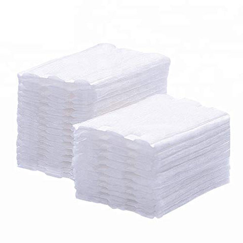 Premium Professional 100% All Natural Facial Cotton Square Pad - Makeup Face Cleansing Pad -Hypoallergenic - No fillers - Soft Edge- 3 Pack of 222 Squares - 666 Count