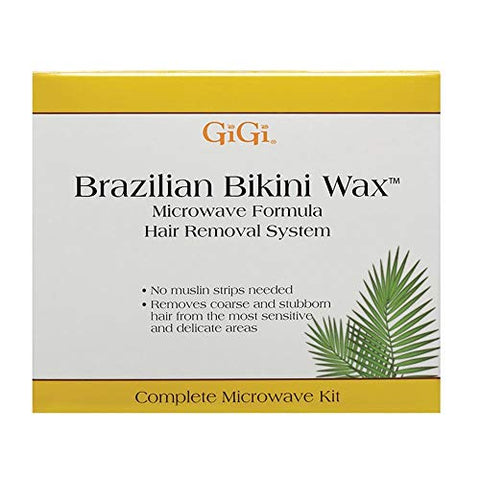 Gi Gi Brazilian Bikini Waxing Microwave Formula, Home Hair Removal Kit