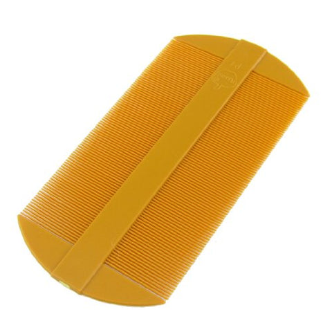 uxcell Amber Fine Tooth Portable Two Side Plastic Hair Comb 2 Pcs