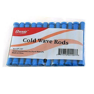 (3packs) -Annie Long Cold Wave Rods Blue 12 Ct. #1107