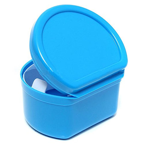 Binglinghua Dental Orthodontic Retainer Denture Storage Case Box Mouthguard Container (dark blue)