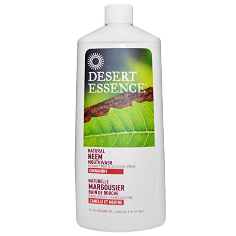 Desert Essence, Natural Neem Mouthwash, Cinnamint, 16 fl oz (480 ml)(Pack of 2)