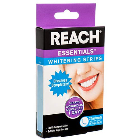 Reach New 379471 Essentials Whitening Strips 4 Ct (24-Pack) Oral Care Wholesale Bulk Health & Beauty Oral Care Lighters