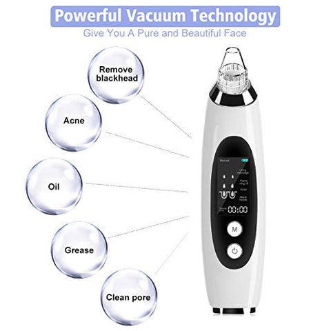 (2020 Upgraded) Blackhead Remover, Slopehill Vacuum Pore Cleaner   Usb Rechargeable Electric Acne Co