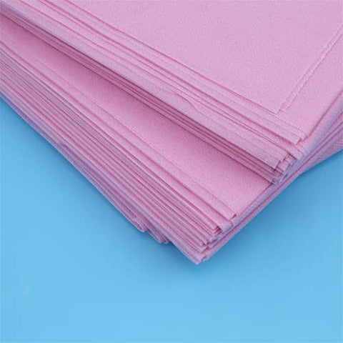 HAOWANG Disposable Sheets for Beauty Salons Nonwoven Bed Sheet For Travel Cloth Sterile Hotel Pillow Pink