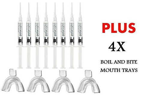 SDI PolaNight CP 10% 1.3g 8 Syringe Whitening Gel + 4 Thermoforming Trays by PolaNight