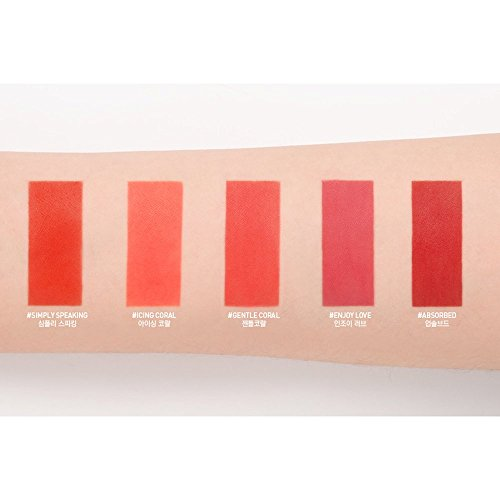 3CE New Velvet Lip Tint #GENTLE CORAL long lasting matte finish
