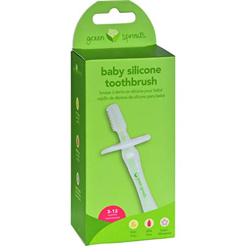 Gs Baby Toothbrush Silico Size Ea Green Sprouts Baby Toothbrush Silicone