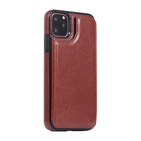 iPhone 11 Pro Max Flip Case, Cover for Leather Card Holders Wallet case Luxury Business Kickstand Flip Cover