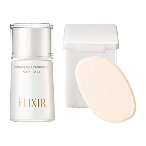 Shiseido ELIXIR SUPERIEUR Whitening Liquid UV Foundation PO10