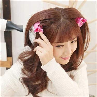 11.5x3CM New air Bangs Curly Hair Artifact Plastic roll Lazy self-Adhesive Curling Tube Duckbill Curler(Color:6pcs)