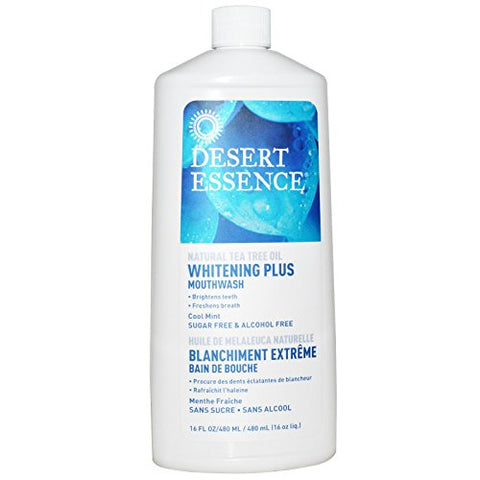 Desert Essence, Whitening Plus Mouthwash, Cool Mint, 16 fl oz (480 ml)(pack of 2)
