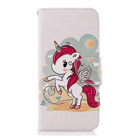 PU Leather Flip Case for Samsung Galaxy A70, Durable Soft Wallet Cover for Samsung Galaxy A70