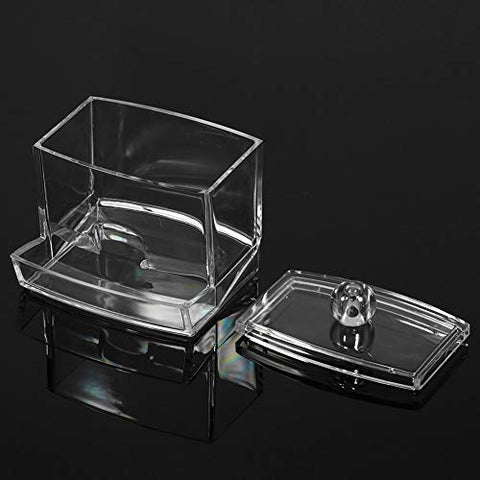 Tool Parts New Clear Practical Cotton Swab Q-tip Makeup Storage Organizer Box Cosmetic Transparent Holder Makeup Case
