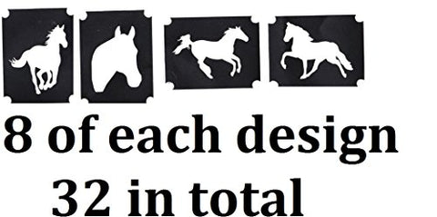 Animal and Insects Tattoo Stencil Collections (32 Tattoo Glitter Airbrush Stencil Horse)