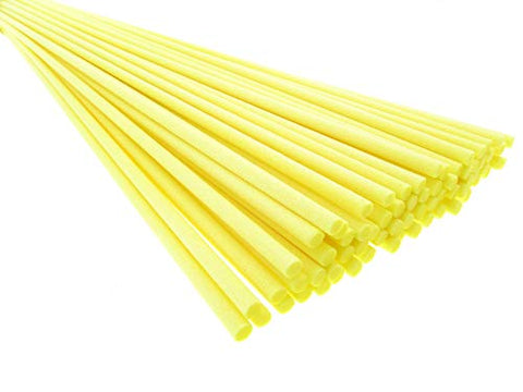 Breath Me TM 50pcs Lemon Yellow Reed Diffuser Fiber Replace Sticks 12 inch for Aroma Fragrance