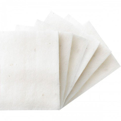 200Pcs White 100% Cotton Super Soft Cotton Squares for Makeup Removal, Facial Cleansing, Toners