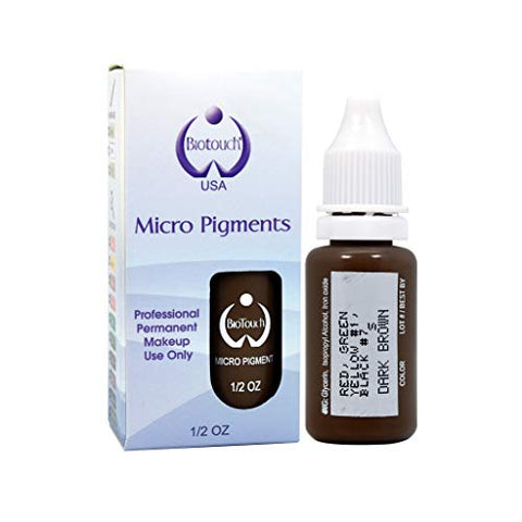 Biotouch Micropigment Dark Brown Pigment Color Permanent Makeup Microblading Supplies Eyebrow Shadin